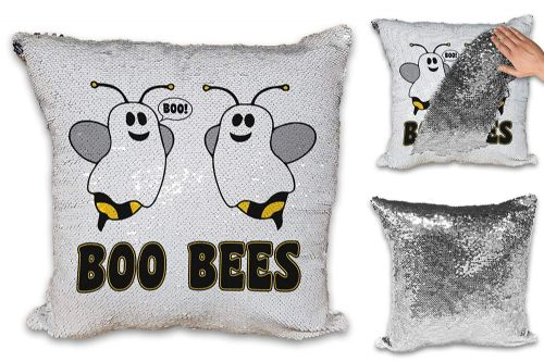 Boo Bees Funny Sequin Reveal Magic Cushion Cover